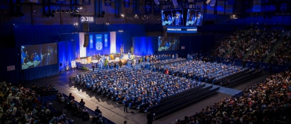 UB's College of Arts and Sciences commencement ceremony in Alumni Arena.
